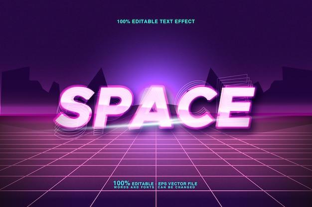 Estilo de texto de espaço de efeito de texto editável