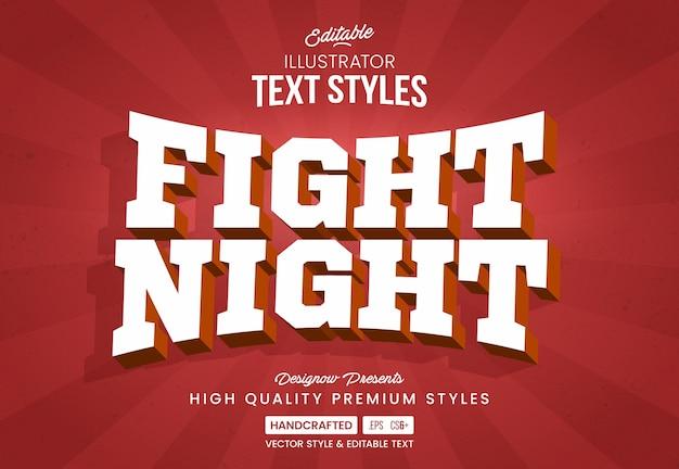 Estilo de texto de esportes de luta