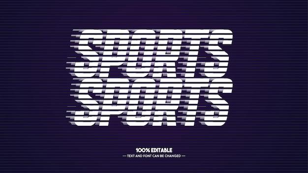 Estilo de texto de esportes