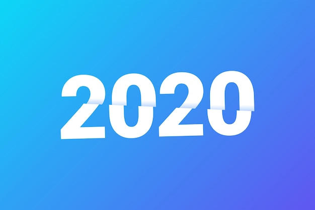 Estilo de texto de fatia de ano novo 2020