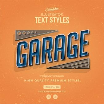 Estilo de texto de garagem vintage