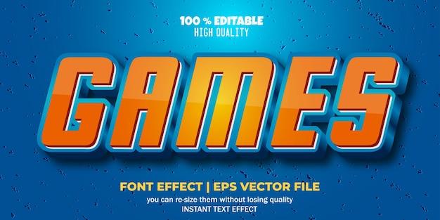 Estilo de texto de jogos de efeito de fonte editável