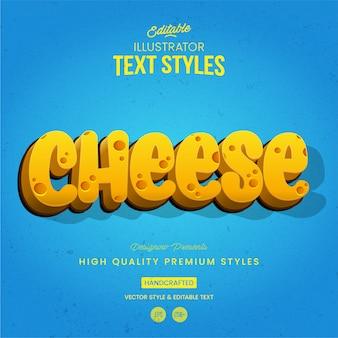 Estilo de texto de queijo