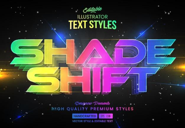 Estilo de texto de tecnologia moderna colorfull