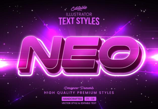 Estilo de texto de tecnologia neon