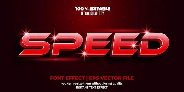Estilo de texto de velocidade de efeito de fonte editável