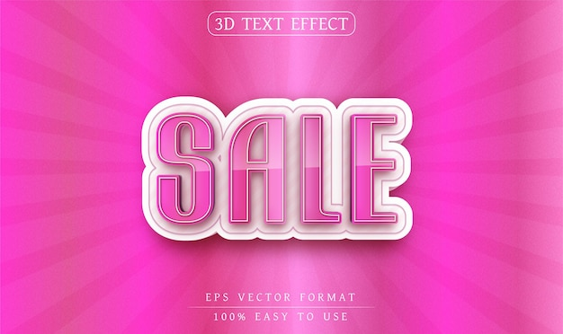 Estilo de texto de venda de efeito de texto editável