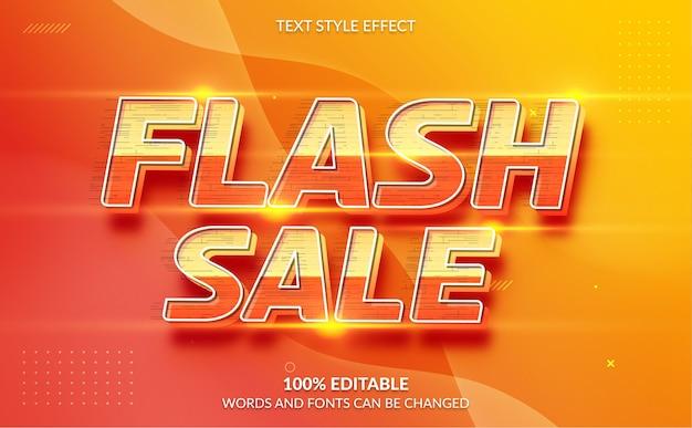 Estilo de texto de venda de flash de efeito de texto editável