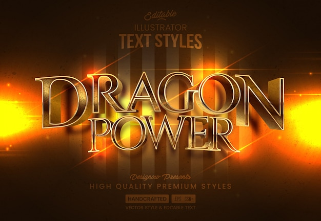 Estilo de texto do castelo do dragão