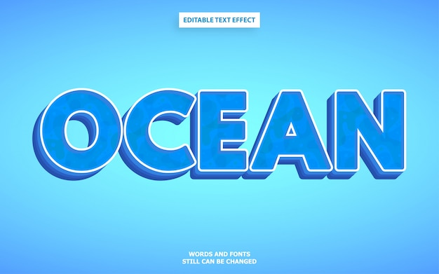 Estilo de texto do oceano