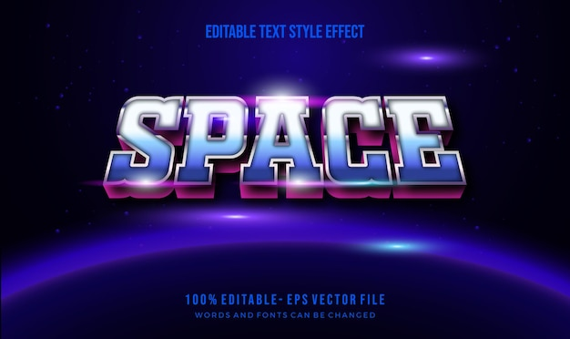 Estilo de texto do tema dos anos 1980. efeito de estilo de texto editável em vetor.