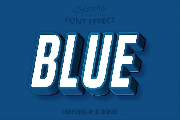 Estilo de texto editável azul clássico