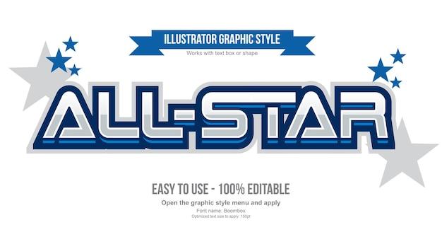 Estilo de texto editável do emblema esportivo 3d moderno