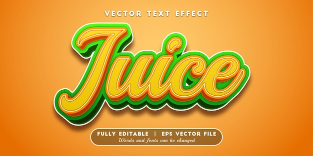 Estilo de texto editável do juice text effect