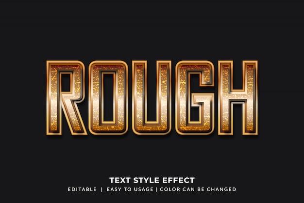 Estilo de texto elegante com efeito de textura áspera elegante