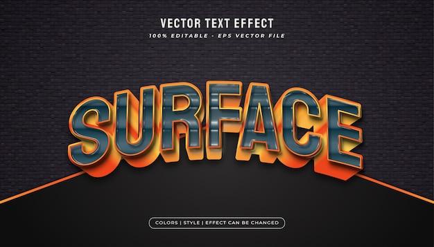Estilo de texto elegante e arrojado com efeito de filme plástico