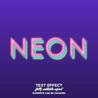 Estilo de texto em néon em camadas