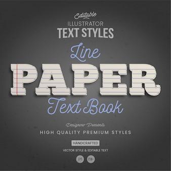 Estilo de texto em papel