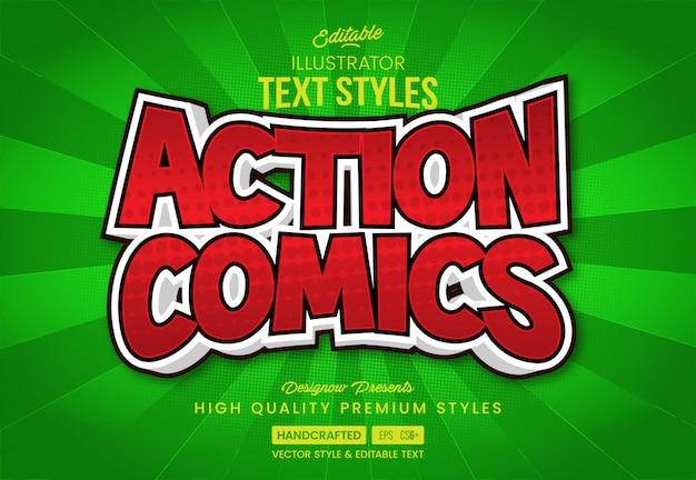 Estilo de texto em quadrinhos de ação