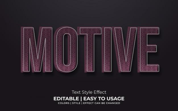 Estilo de texto em relevo 3d com efeito de textura de motivo