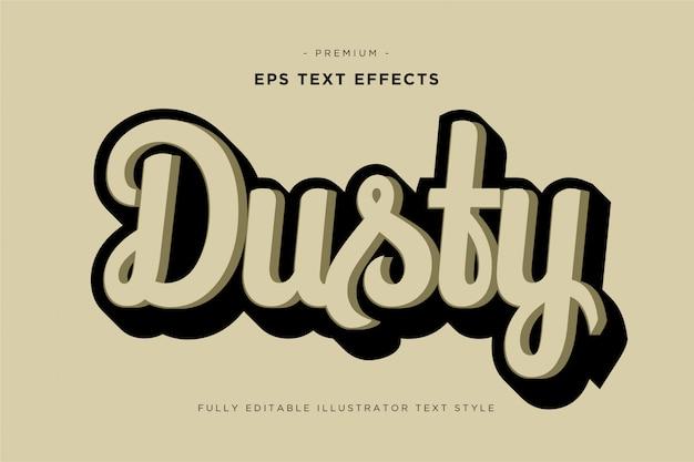 Estilo de texto empoeirado 3d - efeito de texto 3d