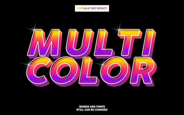 Estilo de texto multicolorido