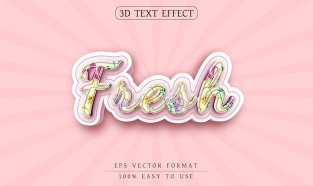Estilo de texto novo de efeito de texto editável
