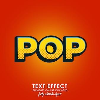 Estilo de texto pop premium
