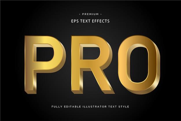 Estilo de texto profissional em ouro