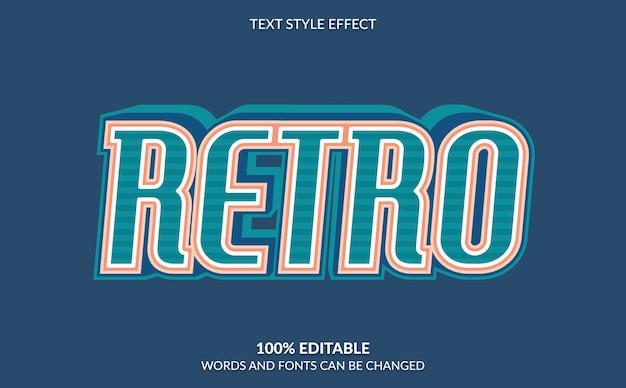 Estilo de texto retro com efeito de texto editável