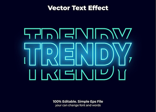 Estilo de texto retro dos anos 60 editável com efeito de texto vintage