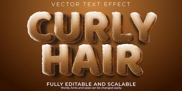 Estilo de texto retro dos anos 70 e 80 com efeito de texto vintage editável