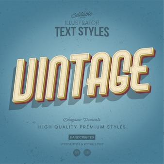 Estilo de texto retro e vintage