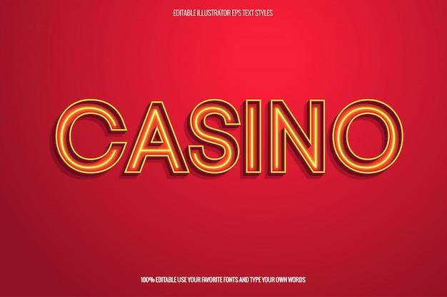 Estilo de texto retrô, efeito instantâneo de texto do casino
