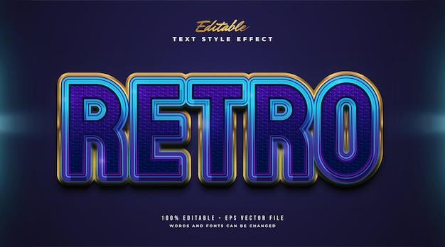Estilo de texto retro em negrito em gradiente colorido com efeito em relevo e texturizado