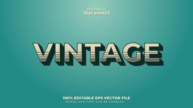 Estilo de texto retro vintage com efeito de texto editável