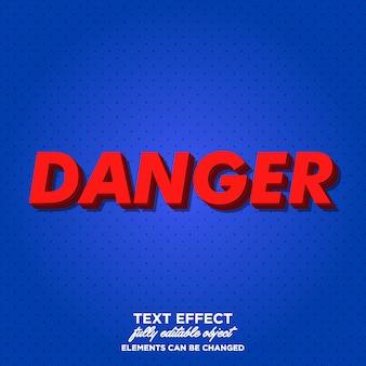 Estilo de texto vermelho 3d para cartaz e título