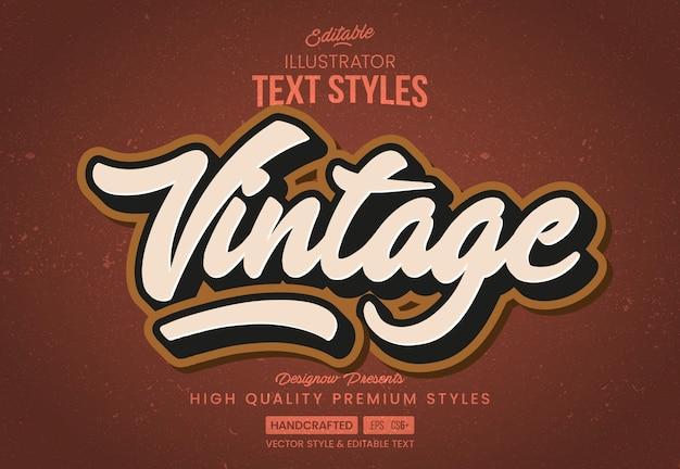 Estilo de texto vintage clássico