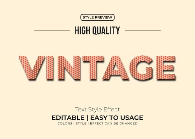 Estilo de texto vintage com efeito de textura de tijolos