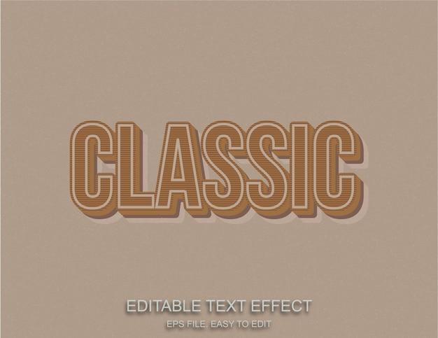 Estilo de texto vintage retrô clássico editável