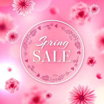 Estilo de venda primavera turva