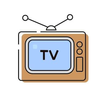 Estilo de vetor de ícone de televisão pronto para seu projeto, cartão, banner. ilustração vetorial.