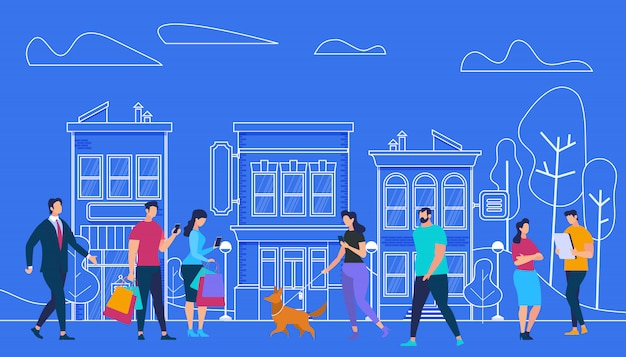 Estilo de vida ativo das pessoas. vista da cidade e casas