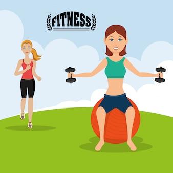 Estilo de vida de ginástica e fitness