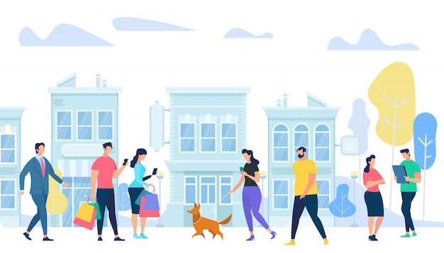 Estilo de vida de pessoas na cidade
