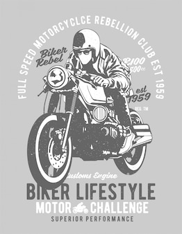 Estilo de vida do motociclista