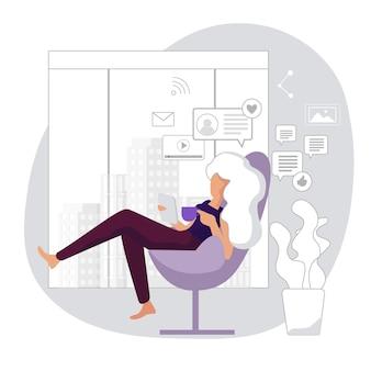 Estilo de vida moderno de escritório