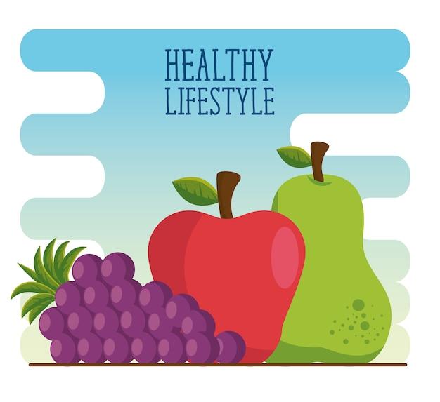 Estilo de vida saudável comem frutas