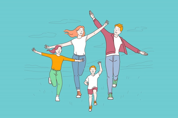 Estilo de vida saudável, conceito de recreação ativa
