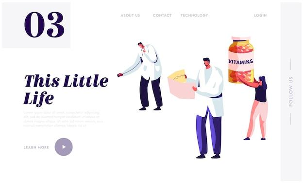 Estilo de vida saudável, modelo de página inicial de site de cuidados de saúde.